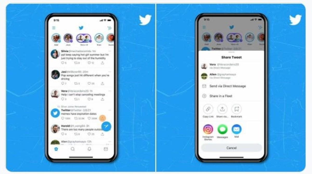 Twitter tarafından paylaşılan ekran görüntüleri