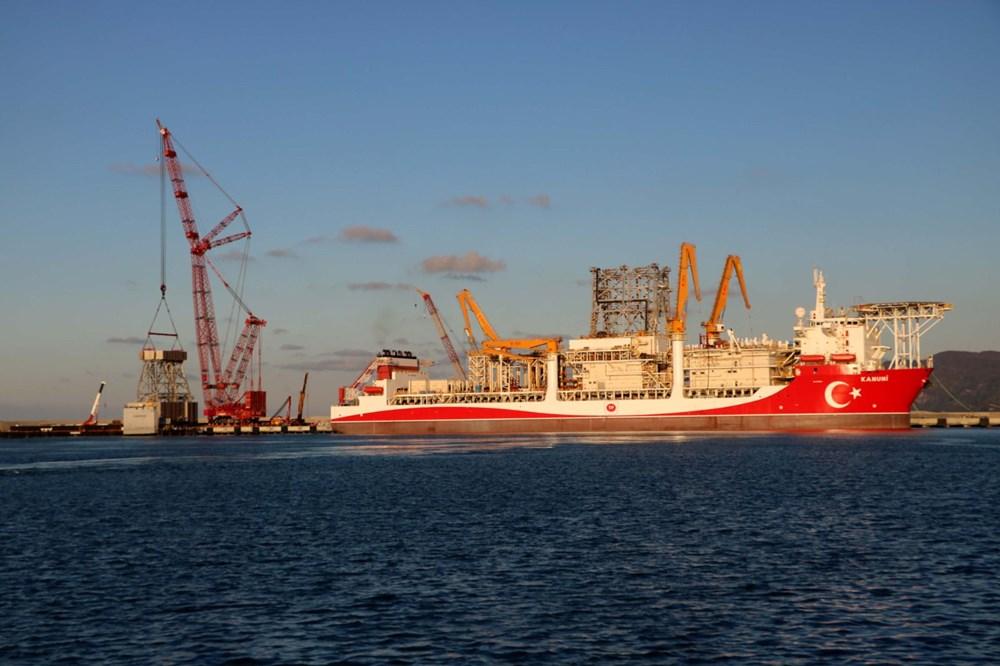 Kanuni sondaj gemisinin kule montaj çalışmaları başladı - 6