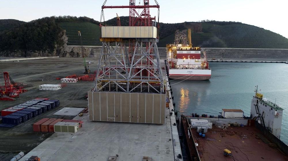 Kanuni sondaj gemisinin kule montaj çalışmaları başladı - 4
