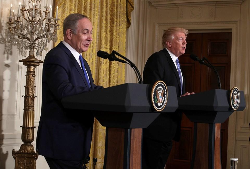 İsrail Başbakanı Benjamin Netanyahu ve ABD Başkanı Donald Trump