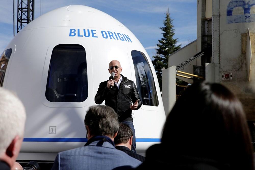 Dünyanın en zengin insanı Jeff Bezos'un uzay yolculuğu gerçekleşti - 8