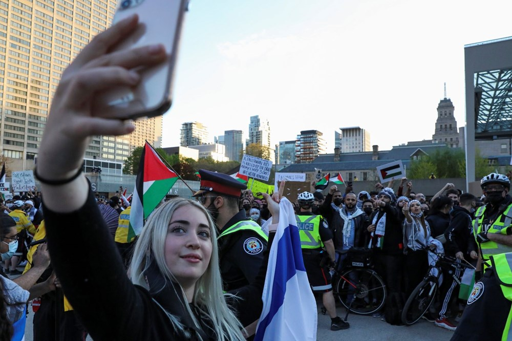 Israel's attacks on Palestinians were protested in Canada - 4