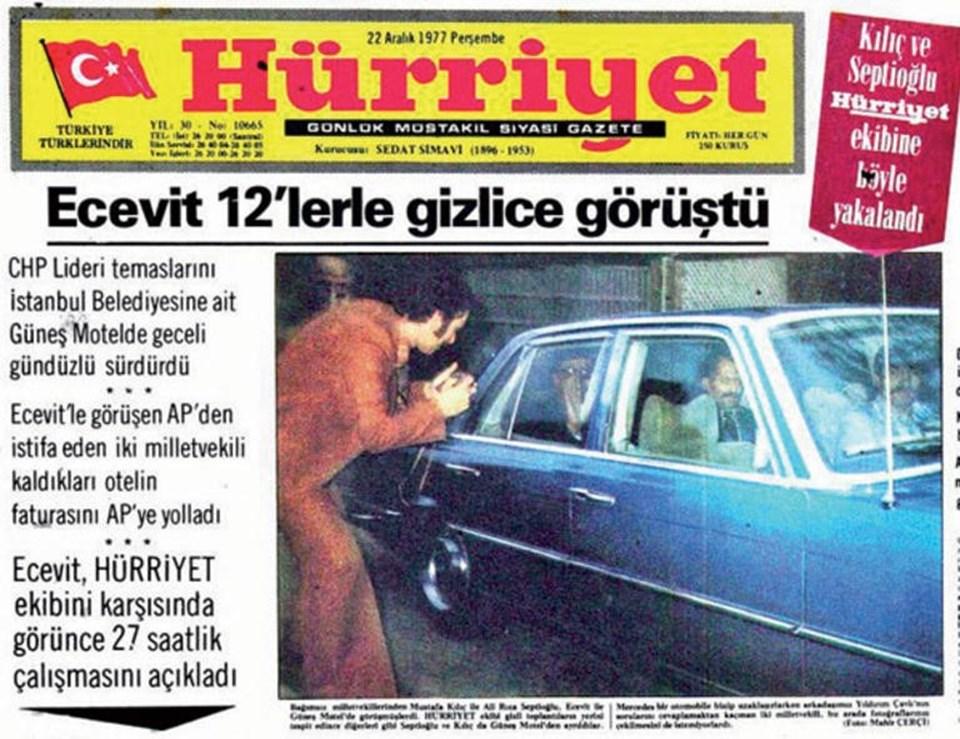 Ecevit'in bizzat yürüttüğü transfer görüşmeleri basına böyle yansımıştı.