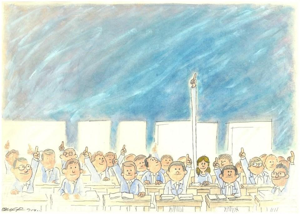 """""""Güçlü Kızlar, Güçlü Yarınlar"""" ödülünü Ömer Çam bu karikatürüyle kazandı."""