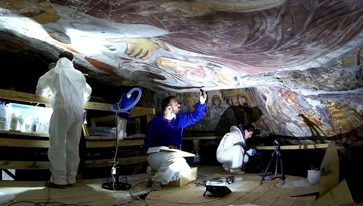 Sümela Manastırı'nda fresklere sızan suya önlem