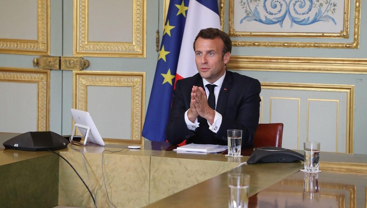 Macron: Türkiye'ye kırmızı çizgi politikası uyguluyoruz
