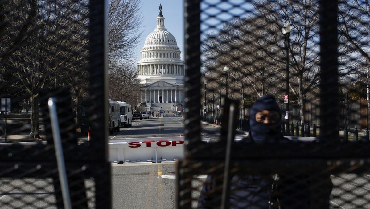 ABD'de sahte akreditasyon kartı taşıyan şüpheli, dolu silahıyla Kongre binasının etrafında yakalandı