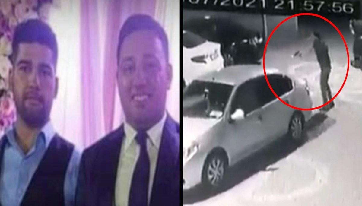Cinayetin görüntüleri ortaya çıktı: İki kayınbiraderine defalarca ateş etti
