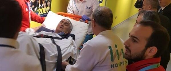 Şenol Güneş ambulansla hastaneye kaldırıldı