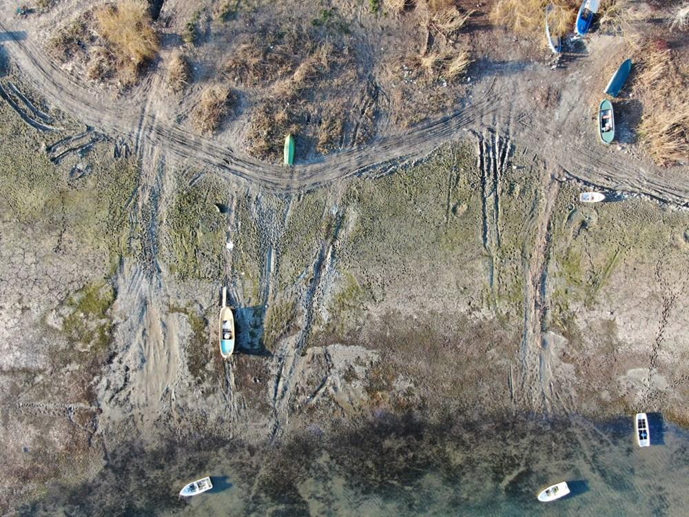 Terkos Gölü 100 metre çekildi, kirlilik ortaya çıktı - 12