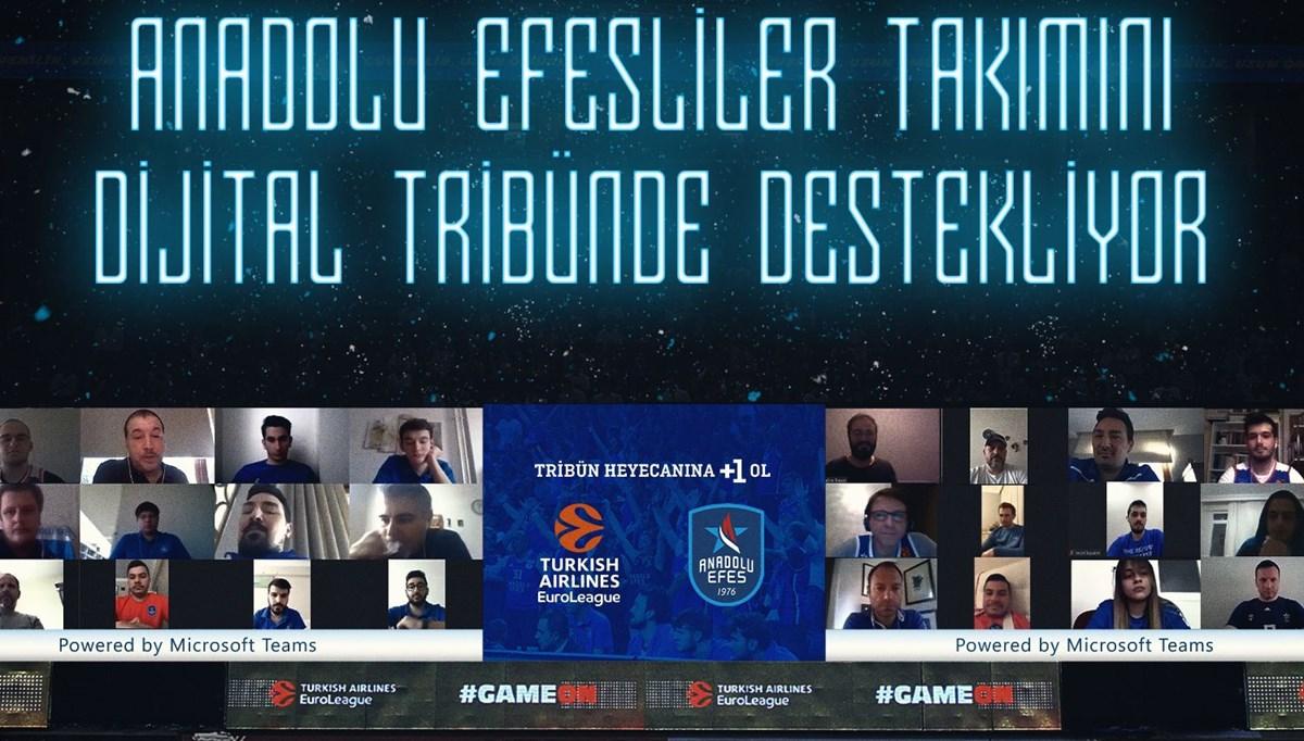 Anadolu Efes taraftarları, Microsoft Teams ile Avrupa'da ilk kez dijital tribünde yerlerini aldı