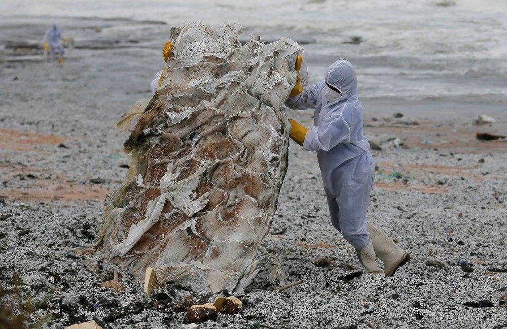 Kimyasal madde taşıyan gemi battı: Sri Lanka çevre felaketiyle karşı karşıya - 12