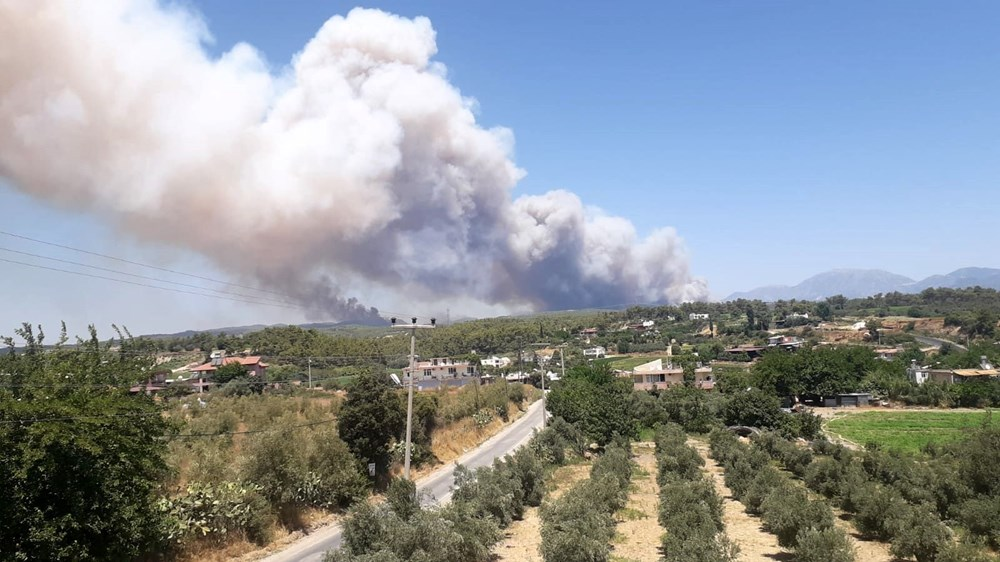 Antalya Manavgat'ta büyük orman yangını - 10
