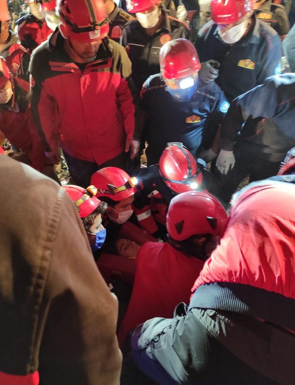 İzmir'de deprem sonrası enkaz altındakiler için zamana karşı yarış (58 saat sonra kurtarıldı) - 5