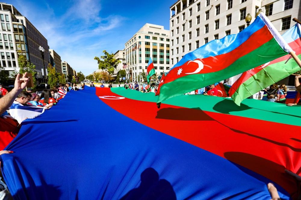 Beyaz Saray önünde Azerbaycan'a destek mitingi düzenlendi - 2
