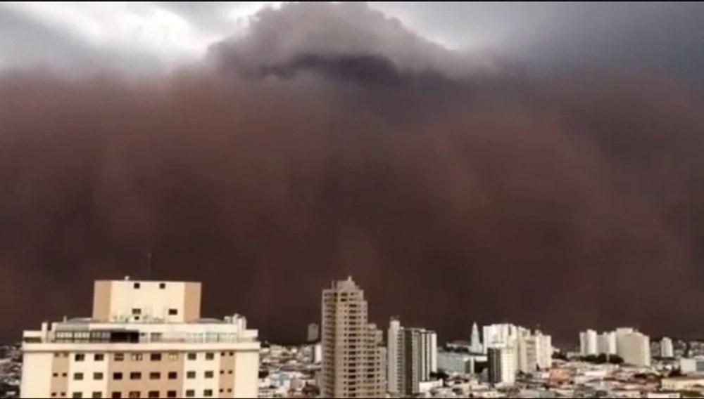 Brezilya'da kıyamet filmini aratmayan kum fırtınası: Binalar ortadan kayboldu - 3