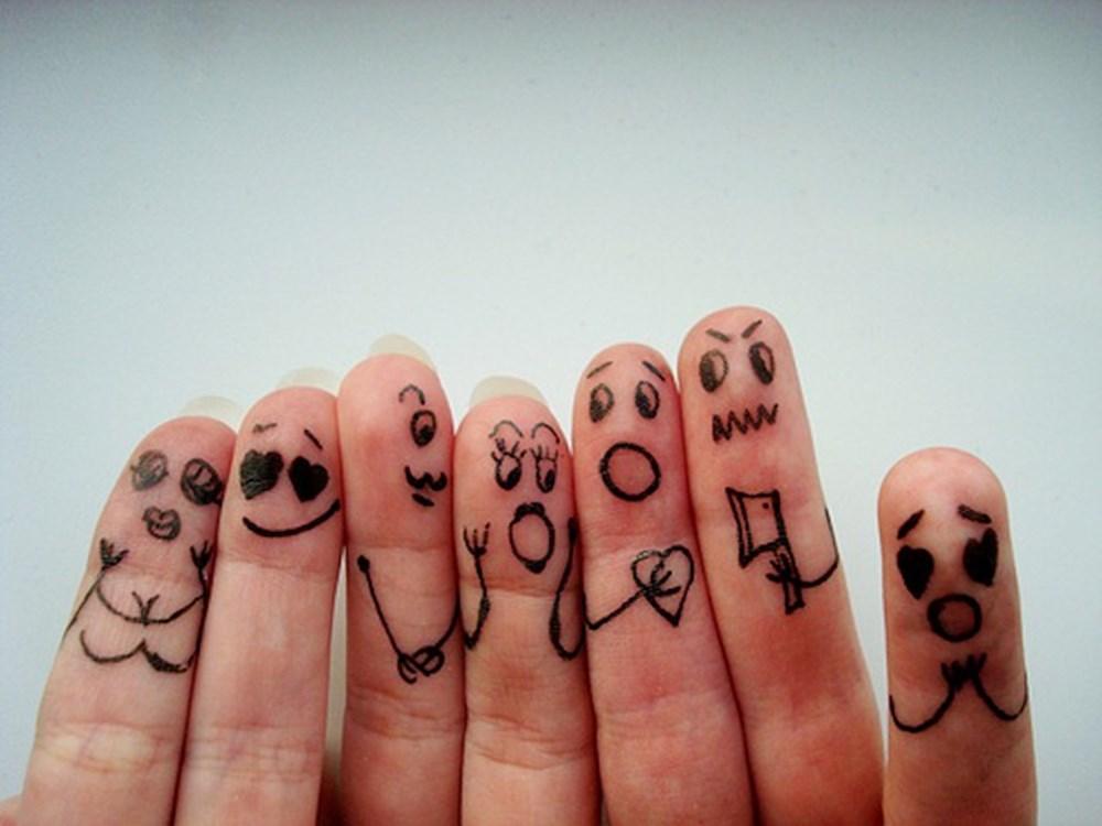 Прикольные рисунки на пальцах рук