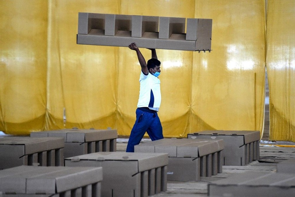 Hindistan'da Covid-19'a karşı karton yatak çözümü - 14