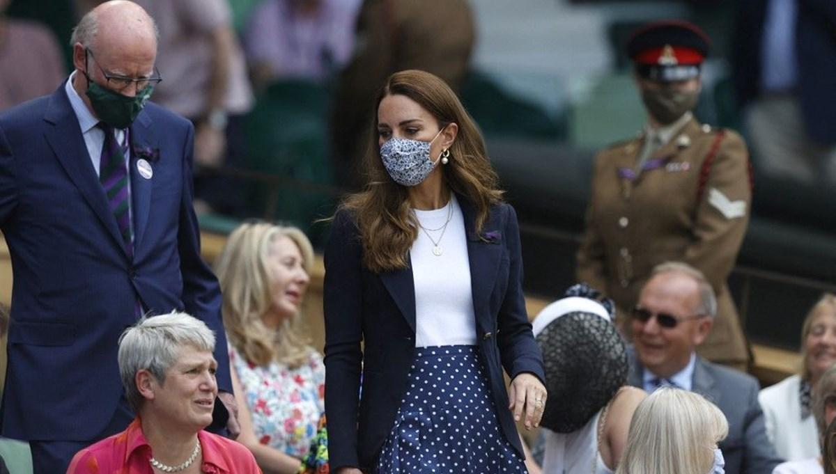 Kate Middleton corona virüs temaslısı olduğunu Wimbledon'da öğrendi