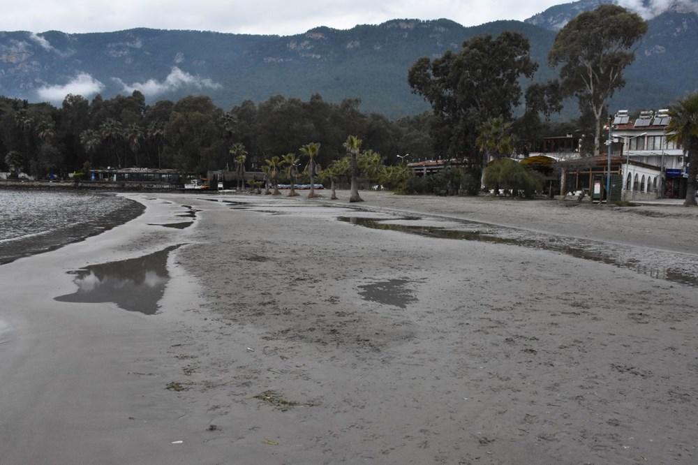 Muğla'da deniz suyu 40 metre çekildi - 8