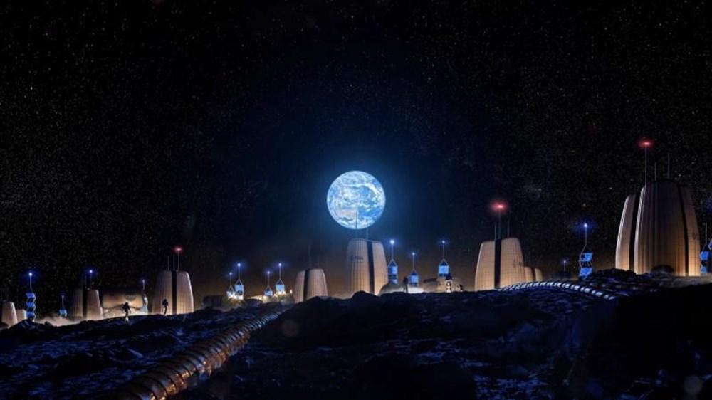 Avrupa Uzay Ajansı, Ay'da inşa edilecek evleri paylaştı - 2