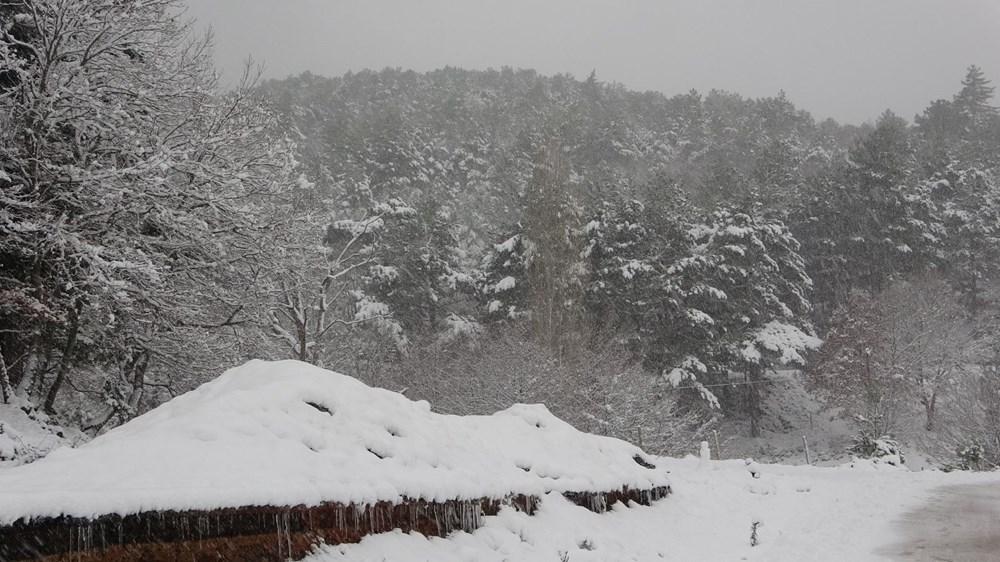 Yurtta kar yağışı (İzmir'in yüksek kesimlerinde kar yağışı etkili oluyor) - 18