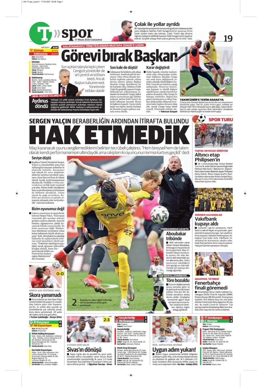 Günün spor manşetleri (17 Nisan 2021) - 24