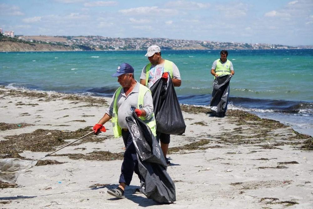 Tekirdağ'ın tatil beldesinde 500 ton çöp toplandı - 8