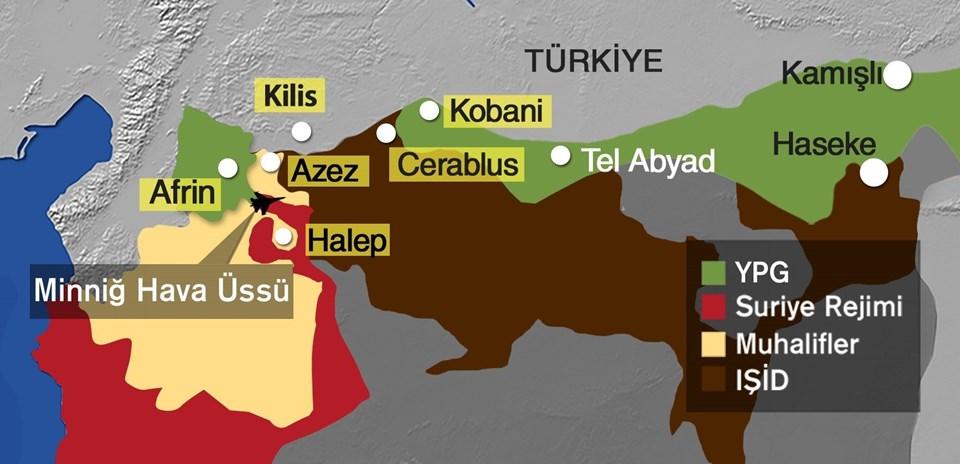 Türkiye Minniğ Hava Üssü'ne angajman kuralları çerçevesinde batarya atışı yaptı.