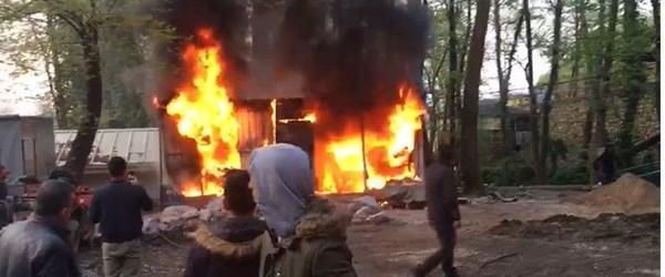 Kocaeli'de benzin depolama alanında yangın
