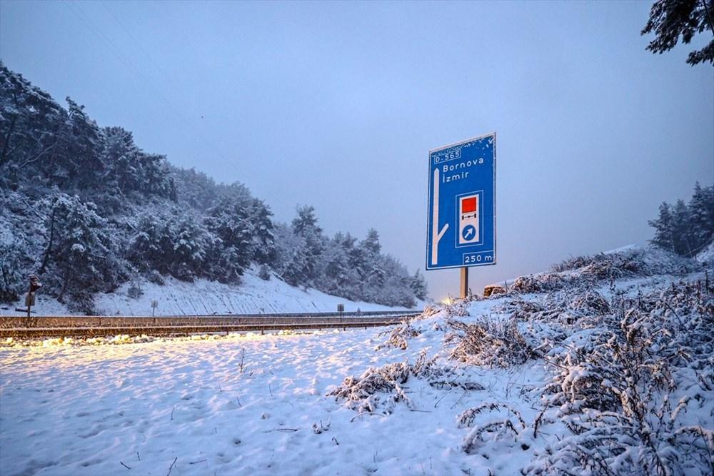 Yurtta kar yağışı (İzmir'in yüksek kesimlerinde kar yağışı etkili oluyor) - 4