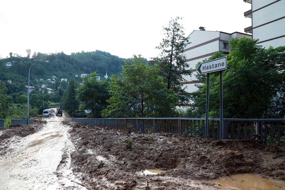 Rize'de sel ve heyelan afetinin hasarı gün ağarınca ortaya çıktı - 24
