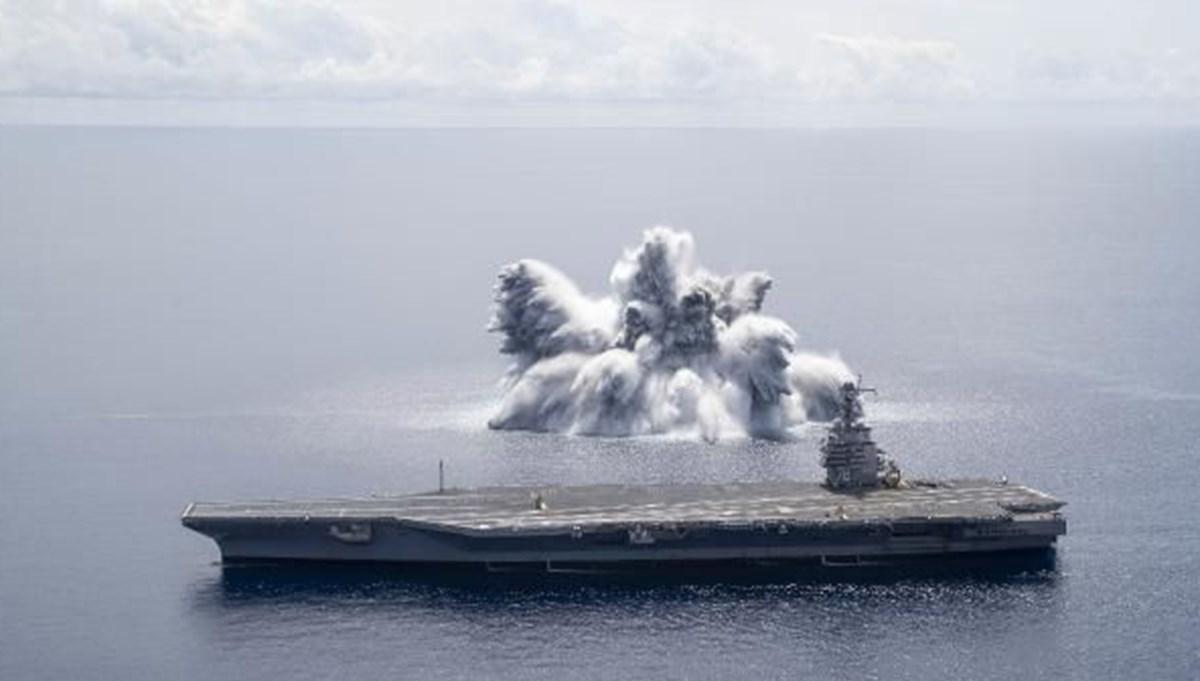 ABD Donanması'nın savaş gemisi patlayıcı testi: 3.9 büyüklüğünde deprem yarattı