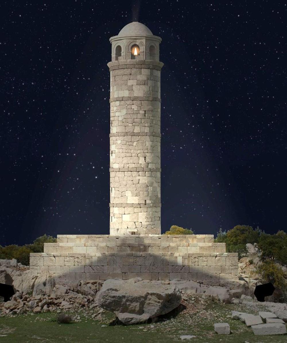 Tarihi Patara Deniz Feneri orijinal taşlarla yeniden ayağa kaldırılıyor - 2