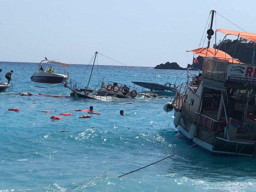 Fethiye'de tur teknesi battı - 3