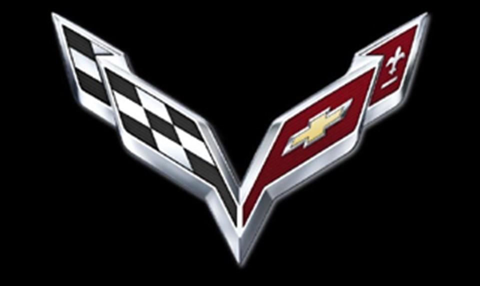 Yenilenen Corvette amblemi.