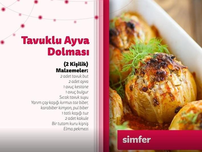 Tavuklu ayva dolması tarifi ve gerekli malzemeler (Simfer'le Ramazan Lezzetleri)