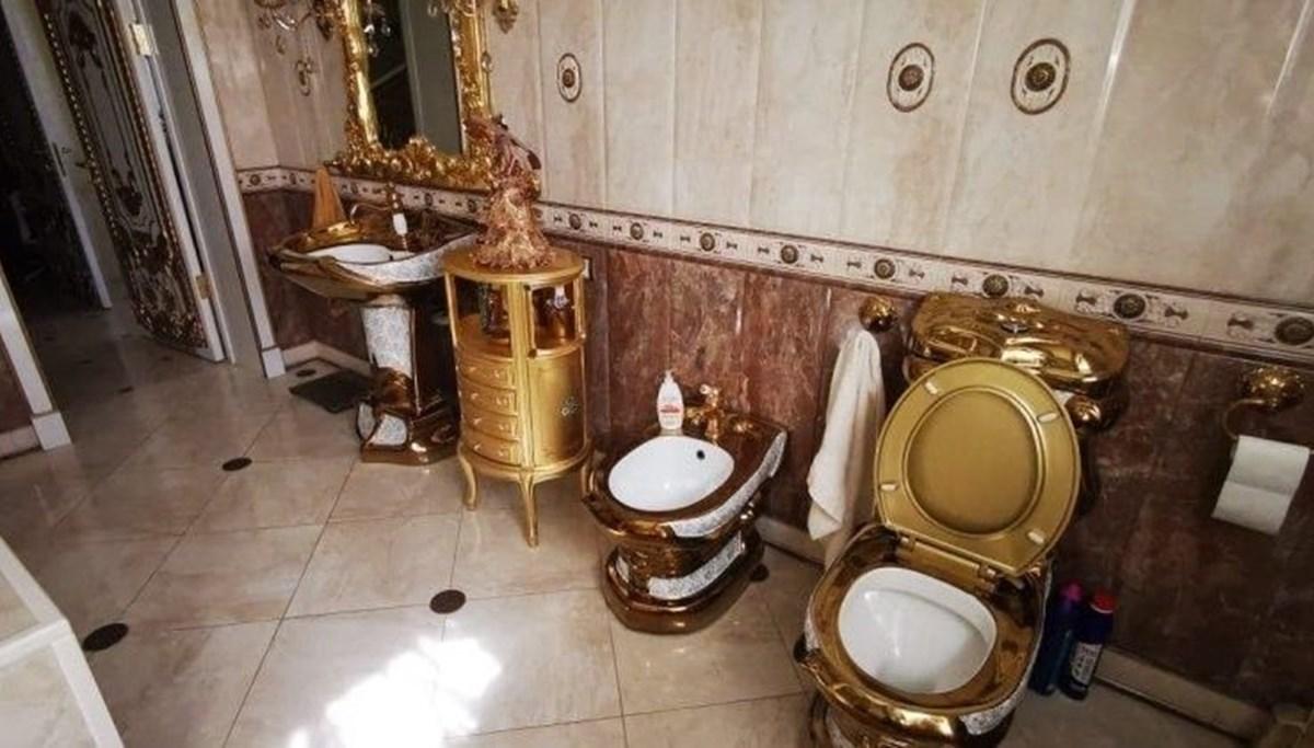 Rusya rüşvet operasyonu: Trafik polisinin evinden altın kaplama tuvalet çıktı