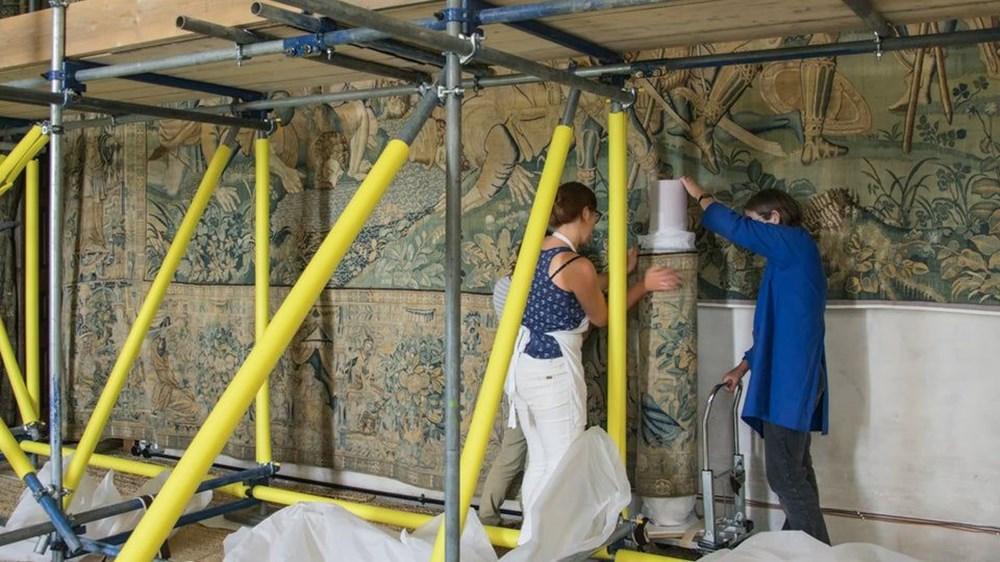 İngiltere'deki tarihi halıların 20 yıllık restorasyonu bitiyor - 5