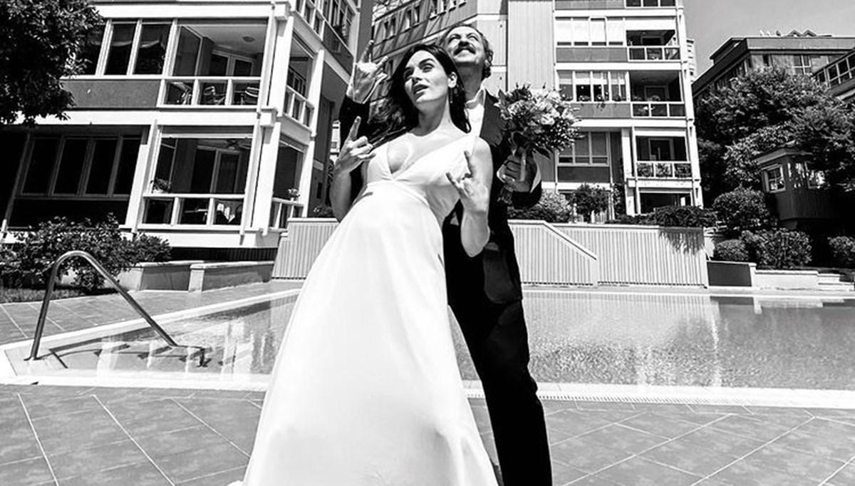 Onur Saylak ve Gözde Yılmaz'ın nikahından ilk fotoğraf