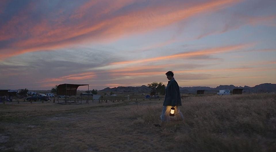 Nomadland filminden bir kare