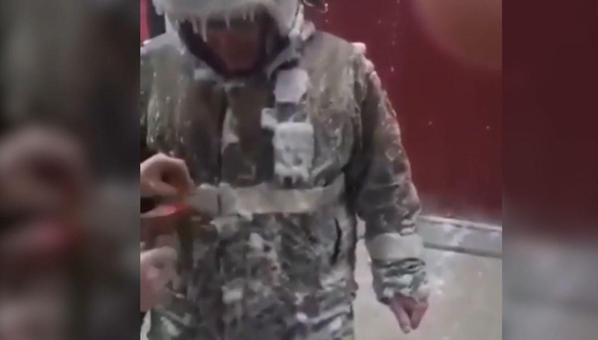 Yakutistan'da itfaiyeciler görevden bu halde döndü | NTV