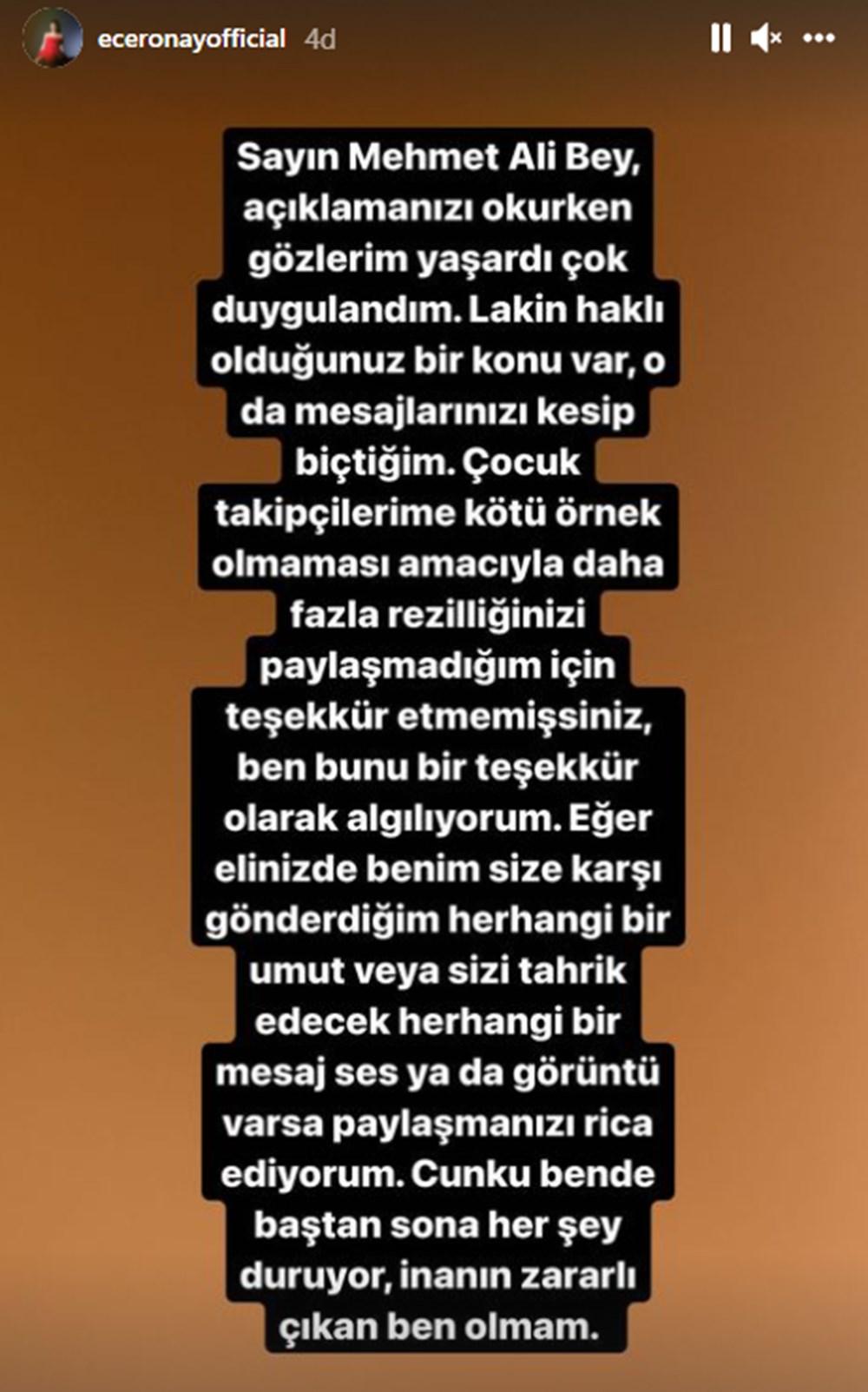 Mehmet Ali Erbil, Ece Ronay'ın taciz suçlamasıyla karşı karşıya - 5