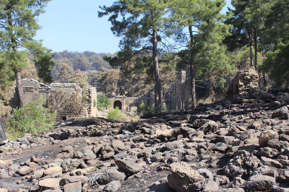 Yangın Lyrbe'yi de vurdu: Antik kent küle döndü - 12