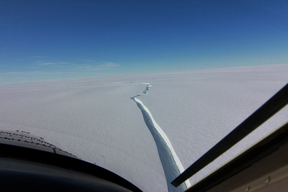 Antartika'da dev buz kütlesi buz sahanlığından koptu - 8