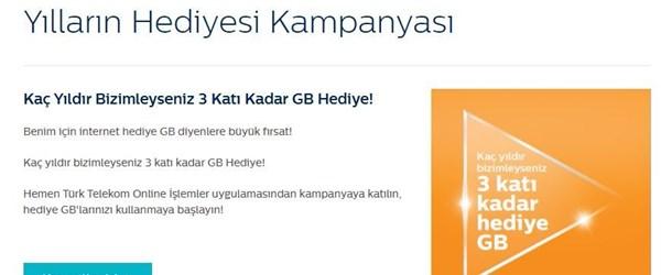 Türk Telekom'dan bedava internet