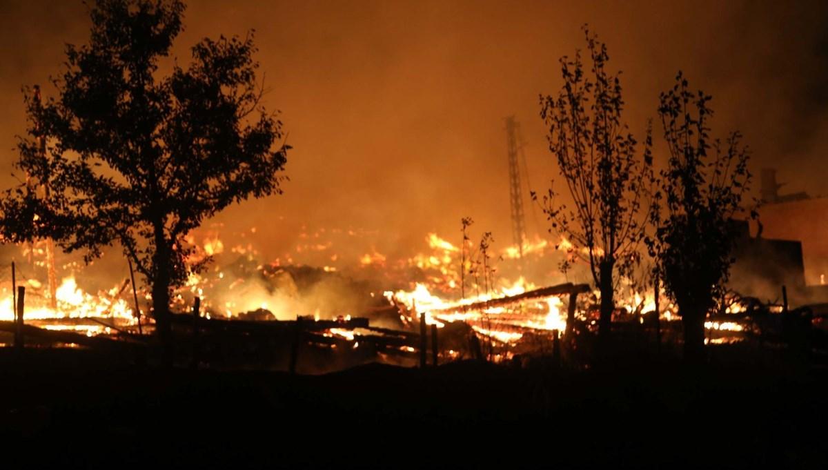 Kastamonu'da bir köy yandı