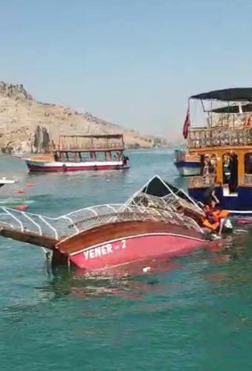 Şanlıurfa Halfeti'de tur teknesi battı - 3