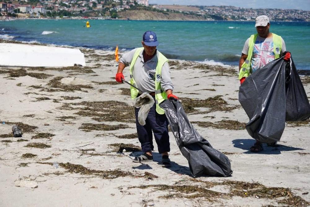 Tekirdağ'ın tatil beldesinde 500 ton çöp toplandı - 7