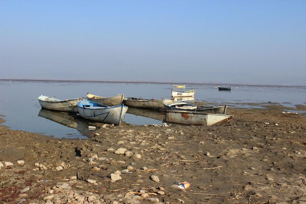 'Kuş cenneti' Marmara Gölü'nde derinlik 40 santimetreye düştü - 9